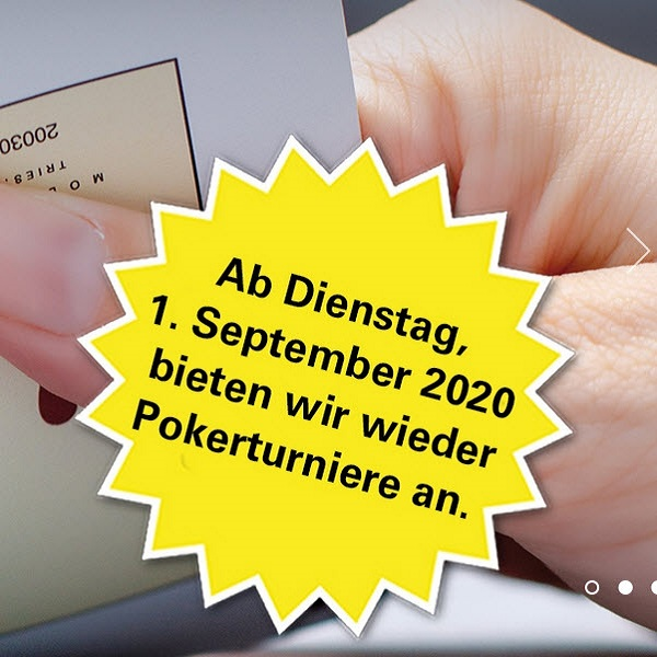 Grand Casino Baden startet ab 01. September mit Turnieren